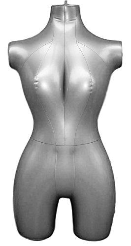 Inflatable Female Half Body Mannequin Torso Dress Form Dummy Model Display by MVG Mannequin