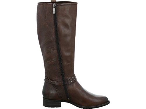 Marco Tozzi Premium Leather Brown Tall Boot Mocca Antic TX1kVT