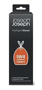 Joseph Joseph 30027 Intelligent Waste IW4 Compaction Bin Liners for Titan, Pack of 20, Black