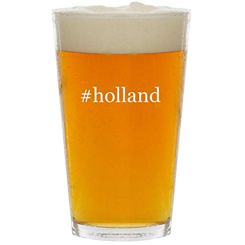 #holland - Glass Hashtag 16oz Beer Pint (Americas Best Chat Line)