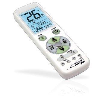 -cod.42534 -UNIVERSAL AIR PLUS-Telecomando universale per climatizzatori con grande display retroilluminato -tipo di programmazione:Ricerca immediata per marca/ Inserimento diretto del codice /Ricerca automatica /Ricerca manuale KONELCO