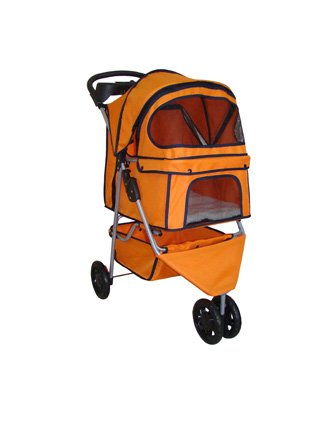 BestPet Pet Stroller Cat Dog 3 Wheel Walk Travel Folding Car