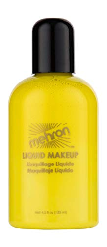 Mehron Makeup Liquid Face and Body Paint (4.5 oz) (Yellow)