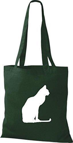 Shirtinstyle - Bolso de tela de algodón para mujer verde - verde