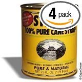 Pure Cane Steens - Steen's 100% Pure Cane Syrup  (Pack of 4) (25oz Can)