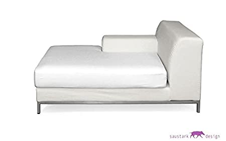 Cotton white Slipcover for IKEA KRAMFORS Chaise longue with armrest on hotel lounge, lily lounge, outdoor lounge, leather lounge, office lounge, art lounge, bedroom lounge, restaurant lounge, modern lounge, sofa lounge, cocktail lounge, bar lounge, pool lounge, airport lounge, cigar lounge, anna shea chocolate lounge, hookah lounge, white lounge, amtrak metropolitan lounge, bed lounge,