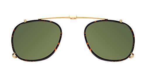 Lunettes de Vue Garrett Leight KINNEY GOLD TORTOISE CLIP-ON GOLD DARK GOLDEN TORTOISE/GREEN unisexe