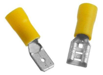 12-10 Gauge Yellow 50pcs Premium-Grade Male-Female Solderless Quick Disconnect Connectors by A Plus Parts House Tab Size 0.25