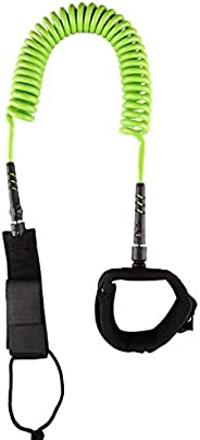 Surf SUP Board Leash,10ft 7mm TPU Coiled Stand Up Paddle Board and Surfboard Leashes,Padded Ankle Strap Leg Ro