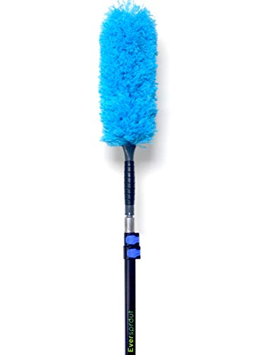 EVERSPROUT 5-to-14 Foot Microfiber Feather Duster and Extension-Pole Combo (20 Ft. Reach) | Lightweight, High-Grade Aluminum, 3-Stage Telescopic Pole | Extra-Long 22'' Feather Duster (14 ()