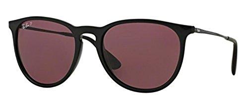 Ray-Ban Erika RB 4171 Sunglasses Black / Purple Polarized 54mm & HDO Cleaning Carekit - Ban Purple Erika Ray Sunglasses