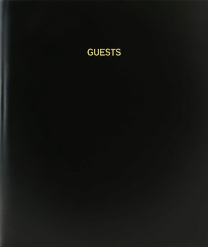 Ribbon Bound Guest Book - BookFactory® Guests Log Book / Journal / Logbook - 120 Page, 8.5