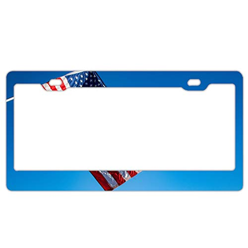 Ohio State Alumni Bar - KSLIDS American Flag Blue Sky Home,Bathroom and Bar Wall Decor Car Vehicle License Plate Metal Tin Sign Plaque