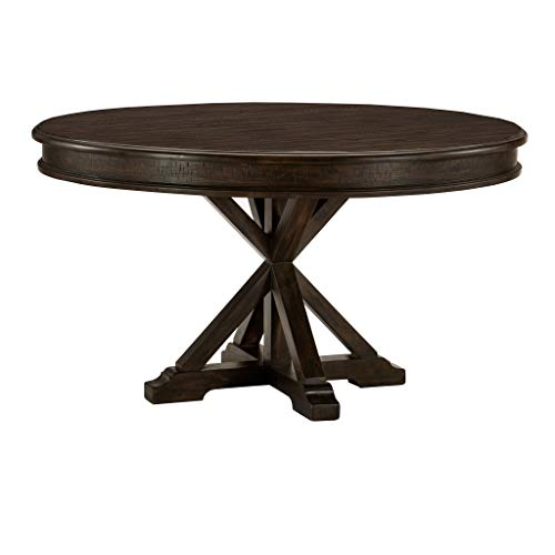 "Homelegance 54"" Round Dining Table, Brown"