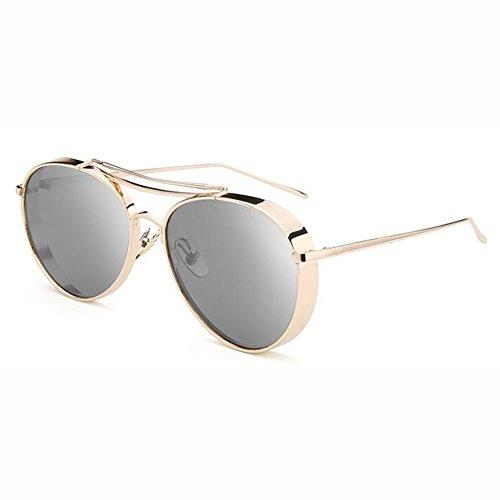 Sol Gafas Color De 1 Amantes Cara Personalidad Hembra Color xin Película Retro 4 Gafas WX Redonda De 5qtx4BRwn