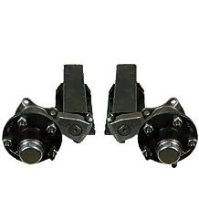 """550 lb. Capacity Non-Adjustable Torsion Half Axles (5-4.5"""" Bolt Circle)"""