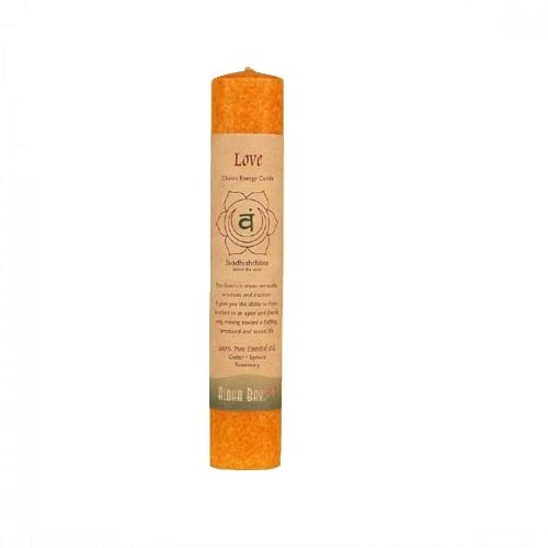 Love Pillar Candle - Aloha Bay Chakra Pillar Love Candle, Orange
