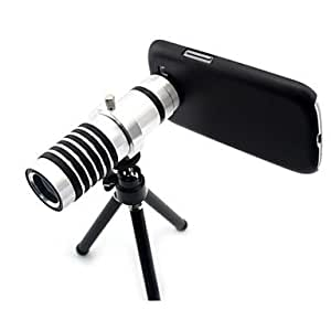 14X Telescope Zoom Lens with Stand Tripod and Hard Case for Samsung Galaxy S4 I9500 , Silver