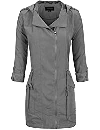Women's Anorak Safari Hoodie Jacket up to Plus Size