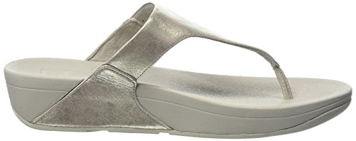 Fitflop Leather Thong Toe Sandali Donna Punta Aperta Skinny Argento Sandals 11 Silver rFxIqE5rw