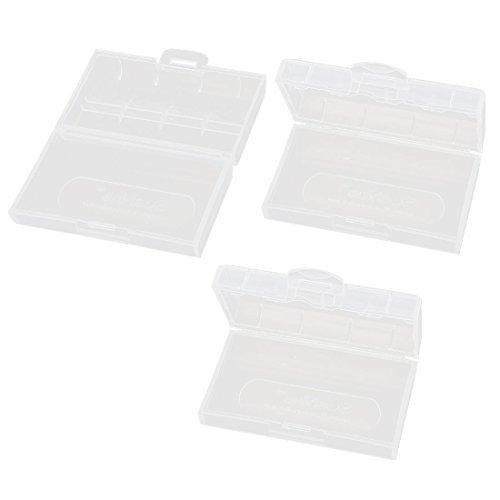 3pcs Claro Cuadro Rectangular de almacenamiento del envase del caso DE 2 x 18650 batera