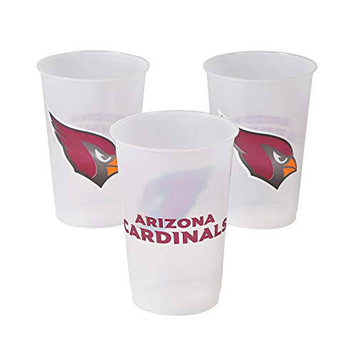 Fun Express - Nfl Arizona Cardinals 20oz Cups for Party - Party Supplies - Licensed Tableware - Licensed Cups - Party - 8 Pieces ()