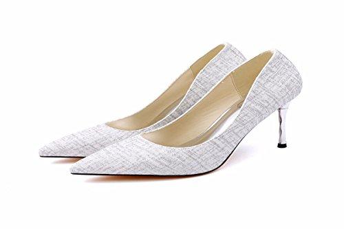 Di High Rane 9Cm D'Onore Detto Sottile Con Heeled Moda KPHY Festa da Scarpe Scarpe Scarpe silvery Le donna Damigella Le Shoes Ww7qaPvn