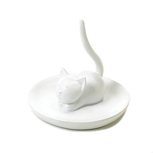 White Cat Jewelry Holder ()