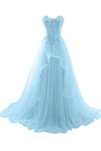 Hochzeitskleid Damen Ivydressing Spitze Romantisch Herzform Hellblau Abendkleider Lang Ballkleider Aqd6Ydw