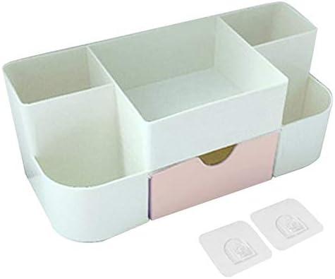 CHENLU Cosméticos Montados En La Pared Organizador De Plástico Multiusos Maquillaje Cajones Compartimientos Caja Mujer Niñas: Amazon.es: Hogar