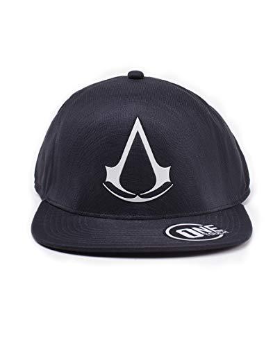 Creed Gorra Flatbill única Unisex Cap Black Crest de Negro Assassin's béisbol Adulto Talla wdq1Id