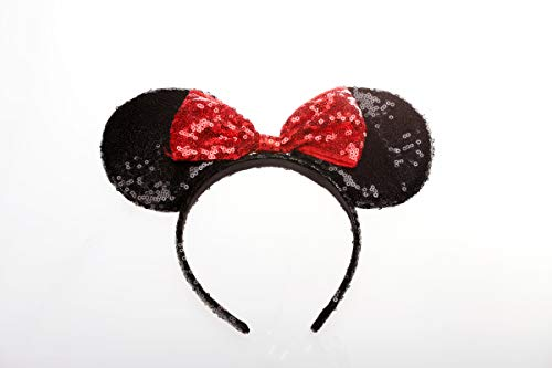 OBUY Red Mickey Ears, Minnie Mouse Ears,Adult red Ears,mice Ears Minnie Mouse Ears,Rainbow Minnie Mouse Ears, Sparkly Minnie Ears, Mouse Ears ()