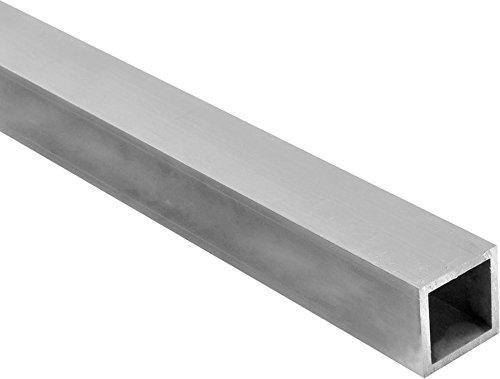 Riggatec Tube daluminium Carr/é 60x60x2mm Longueur 1,0 m