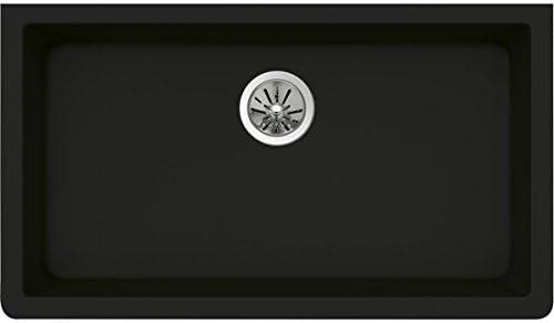 Elkay Quartz Luxe ELXRU13322CA0 Caviar Single Bowl Undermount Sink