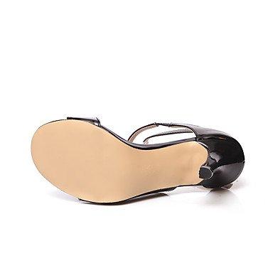 al y mujeres noche libre talón aire fiesta en verano almendra Charol Tacones Negro de azul Zapatos Tobillo Royal Beige de Stiletto Club Fucsia WIKAI el traje ETx8wfqOv
