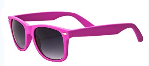 Neon Horn Rimmed Retro Classic Sunglasses Retro Vintage (Pink/Smoke, 55mm)