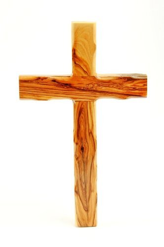 Handcarved Olive Wood Jesus Nazareth Wall Cross by Bethlehem Gifts TM (10 inches) (Olive Wood Wall Cross)