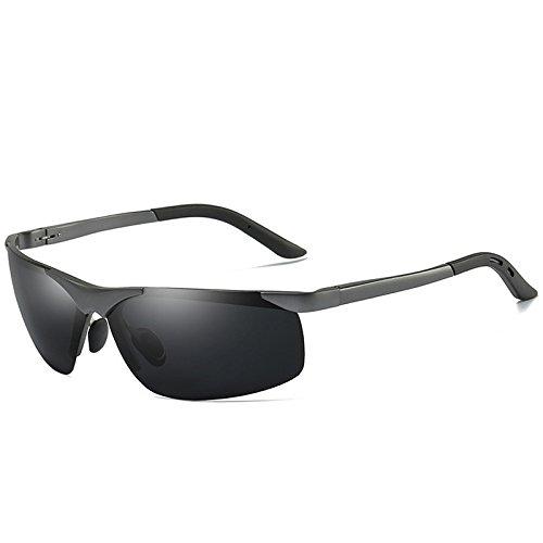 guía hombre hombres sol pesca gafas de Grey Gafas de sol gafas magnesio de para de polarizadas TIANLIANG04 negro UV400 sesgados y Gafas de aluminio sol 0wqdCvC1