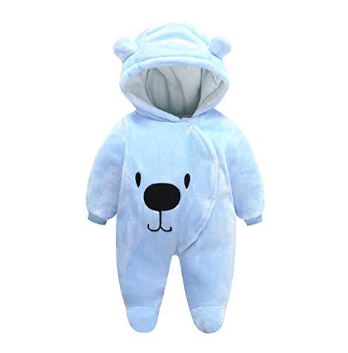 FeelMeStyle Newborn Baby Boy Girl Winter Jumpsuit Outfit Hooded Onesie Thick Bodysuit Romper Cartoon Dog Coat -