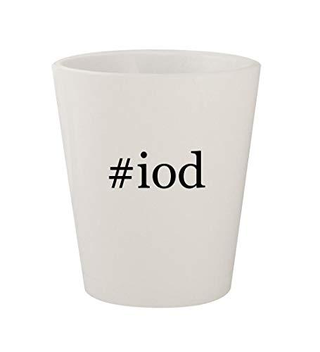 Price comparison product image #iod - Ceramic White Hashtag 1.5oz Shot Glass