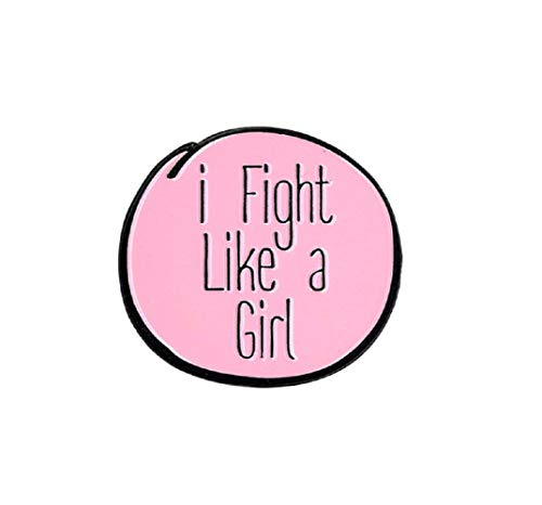 I fight Like a Girl - Enamel PIN, Licensed Original Artwork by Matt Stewart, 1.25