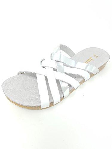 Jana 27116 Damen 8 191 Damen 32 Sandalette EU White Silver 37G UK 4 rgqr5aWn