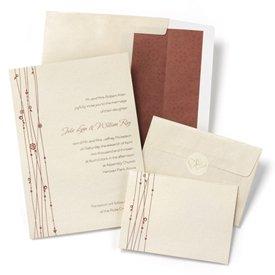 Hortense B. Hewitt 50 Count Vines Invitation Kit, Red