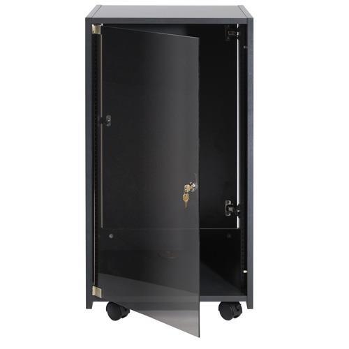 Elite Rack rear doors ERKD Color: Ebony, Size: Rear door for 8U elite racks by Raxxess