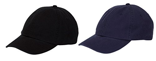 Adams Cool-Crown Mesh Lining Unstructured Caps Set_Black / Navy_OS by Adams