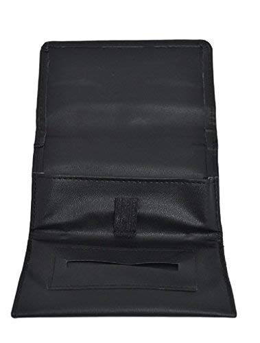 SHINE Leather Tobacco Pouch Soft PU Fully Lined Black Colour