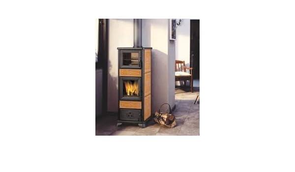 Estufa a leña italiana chimeneas Dafne Horno Cerámica 7,2 kW: Amazon.es: Hogar