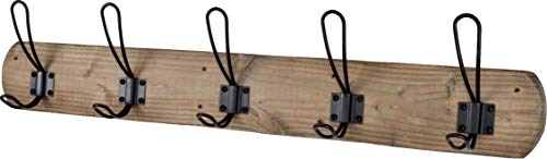 Acacia Grove Rustic Wall Mounted Coat Rack, 28