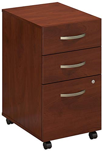 Bush Business Furniture Series C Elite 3 Drawer Mobile File Cabinet, Hansen Cherry (Drawer Cherry File Cabinet)