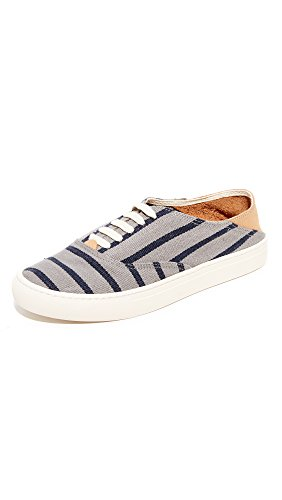 Soludos Mens 3000061 Striped Classic Sneaker Gray Navy